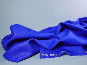 Italienischer Mantelstoff aus 100% Schurwolle | königsblau