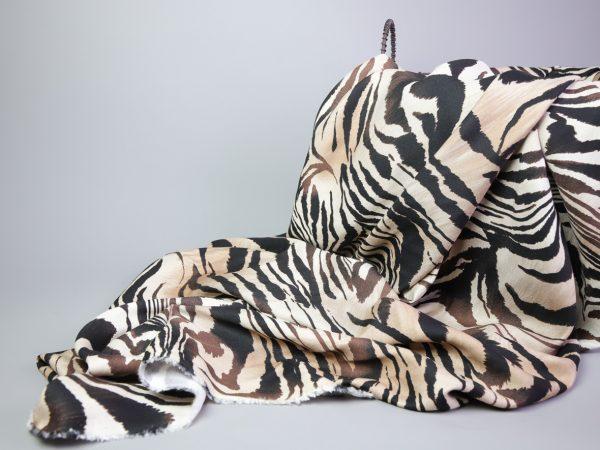 Zebra Print Viskose   black & creme