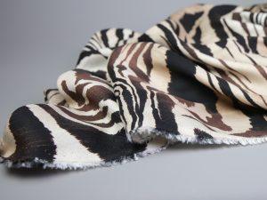Zebra Print Viskose | black & creme