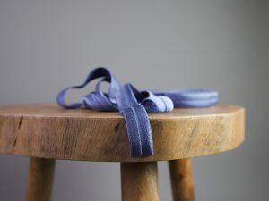 Falzgummi | Elastisches Einfassband blaugrau
