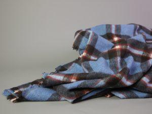 Mantelstoff Shacket Fabric   denimblue & rusty red