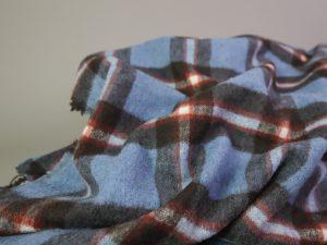 Shacket Fabric   denimblue & rusty red