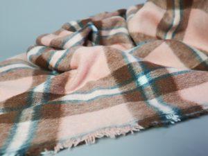 Shacket Fabric   oldrose & chocolate