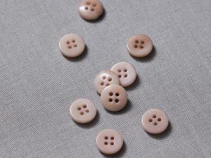 Meet MILK   Plain Corozo Button 11mm   Powder Pink