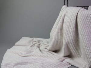Mini Cable Knit Jersey   ecru melange