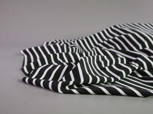 Fashion Ponte | black & white Stripes