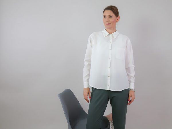 DIY Kit Bea Blouse offwhite   Timeless Chic Originals Collection