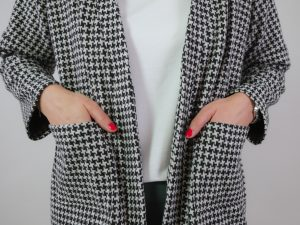 DIY Kit Milla long Houndstooth black and white | Timeless Chic Originals Collection