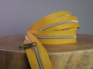 Reißverschluss Meterware mustard messing antik | ohne Schieber