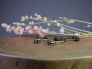 Schieber für Reißverschluss Meterware | messing antik