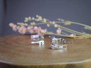 Schieber für Reißverschluss Meterware | silber