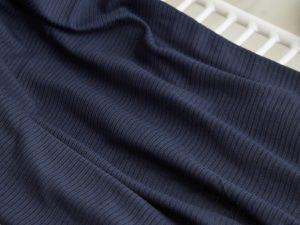 Meet Milk Derby Ribbed Jersey mit TENCEL™ Fasern | dark navy