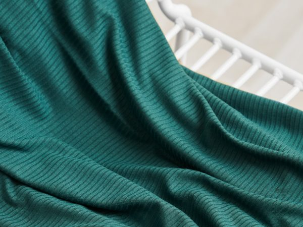 Meet Milk Derby Ribbed Jersey mit TENCEL™ Fasern | emerald