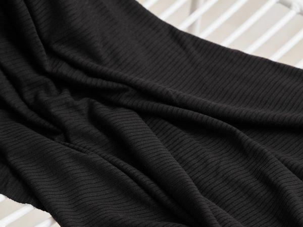 Meet Milk Derby Ribbed Jersey mit TENCEL™ Fasern | black