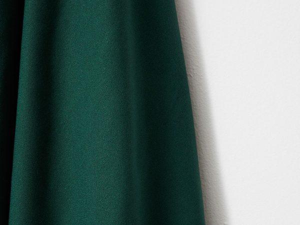 Mind the MAKER   ECOVERO™ Viskose   Solid Vera Crepe bottle green